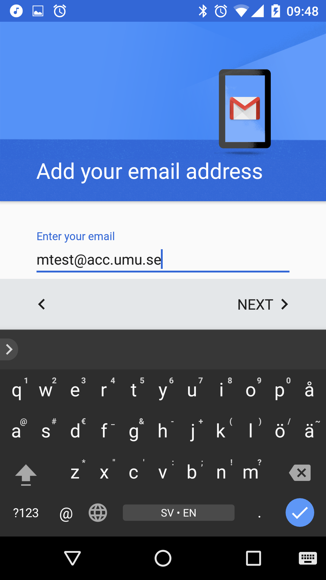 Android gmail for Acc email
